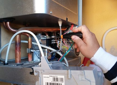 central heating boiler installation