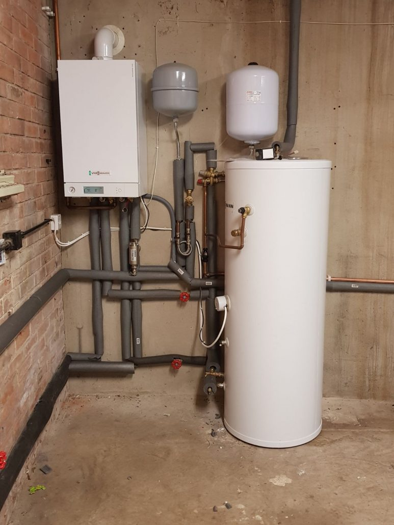 central heating boiler installation