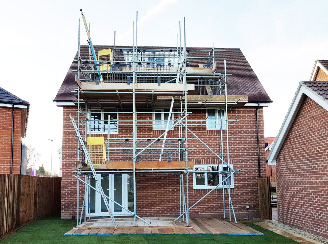 Cost of new boiler with additional scaffolding