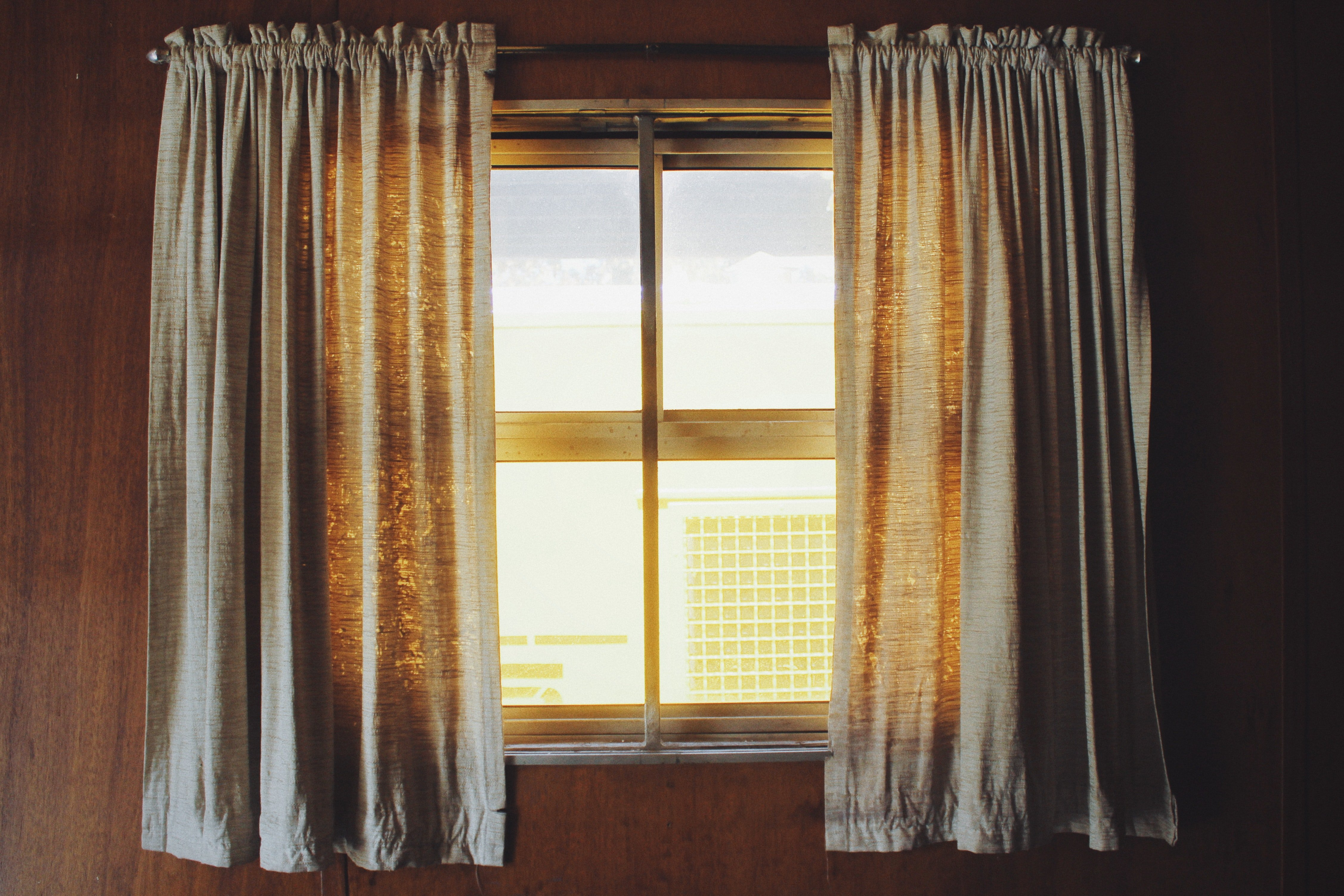 Using thick curtains will help you through the year