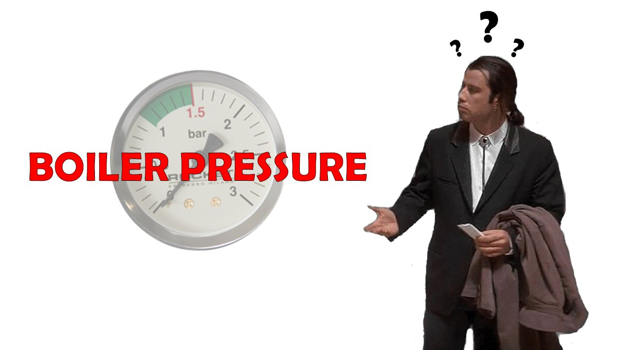 What is boiler pressure?